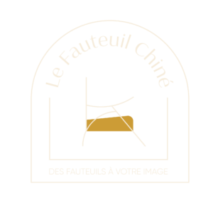 logo incolore contour blanc Le Fauteuil Chiné