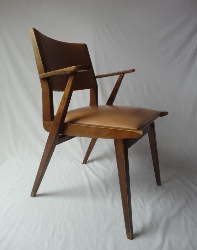fauteuil scandinave bridge vintage Andries Angers