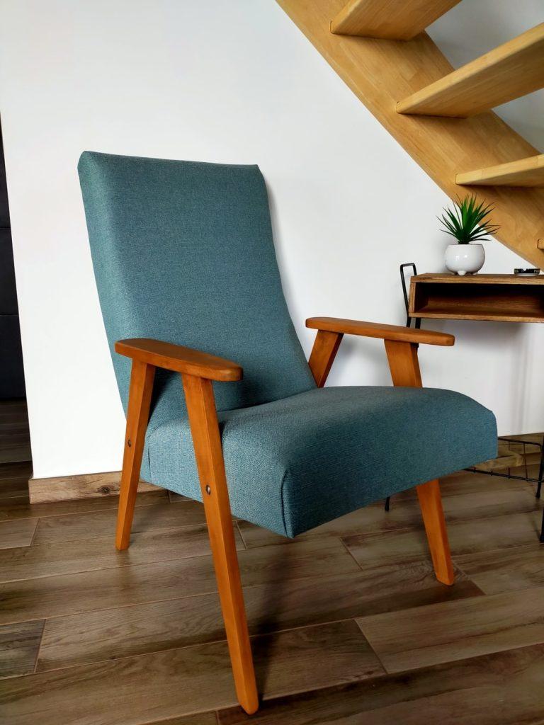 fauteuil scandinave vintage rénové Anders Angers