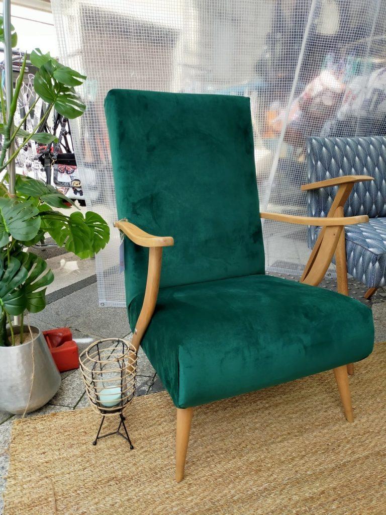 fauteuil scandinave vintage rénové Erick Angers