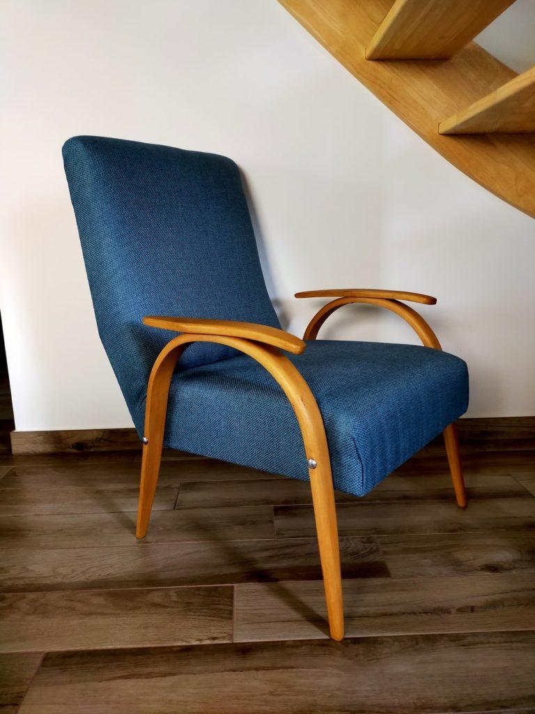 fauteuil scandinave vintage rénové Thor Angers