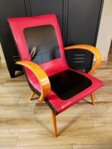 fauteuil scandinave vintage à rénover