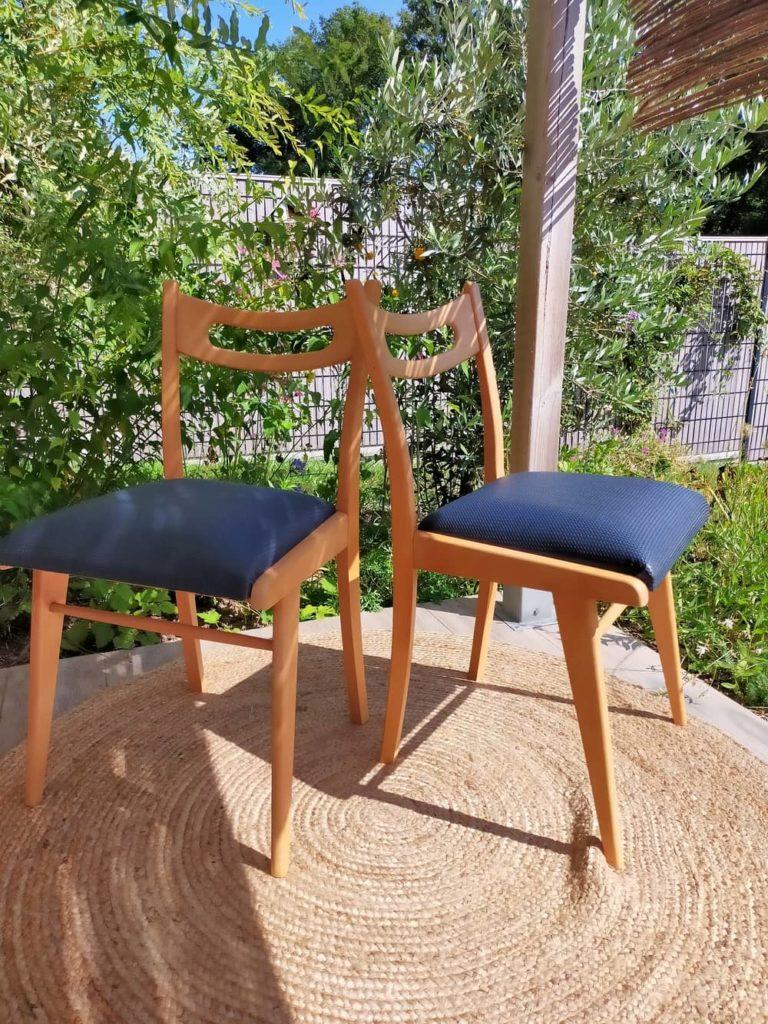 chaises scandinaves vintage rénovées jara