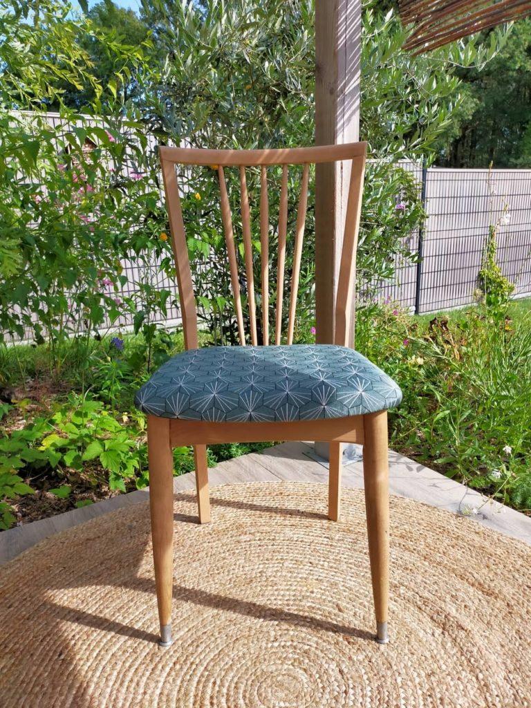 chaise vintage rénovée paulette