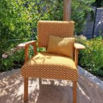 fauteuil scandinave vintage rénové Alan