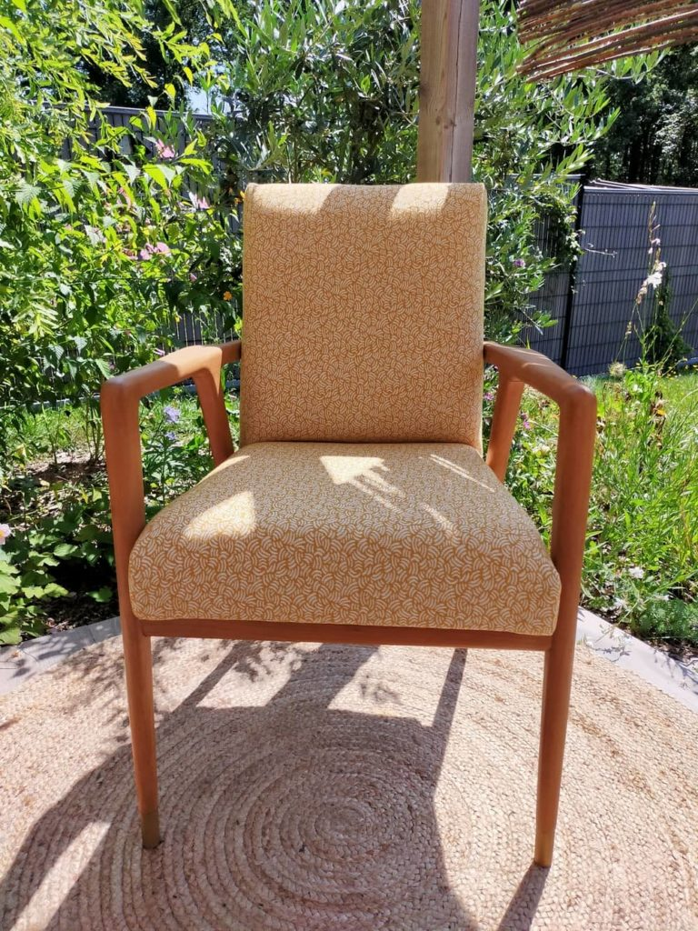 fauteuil scandinave vintage rénové Mads