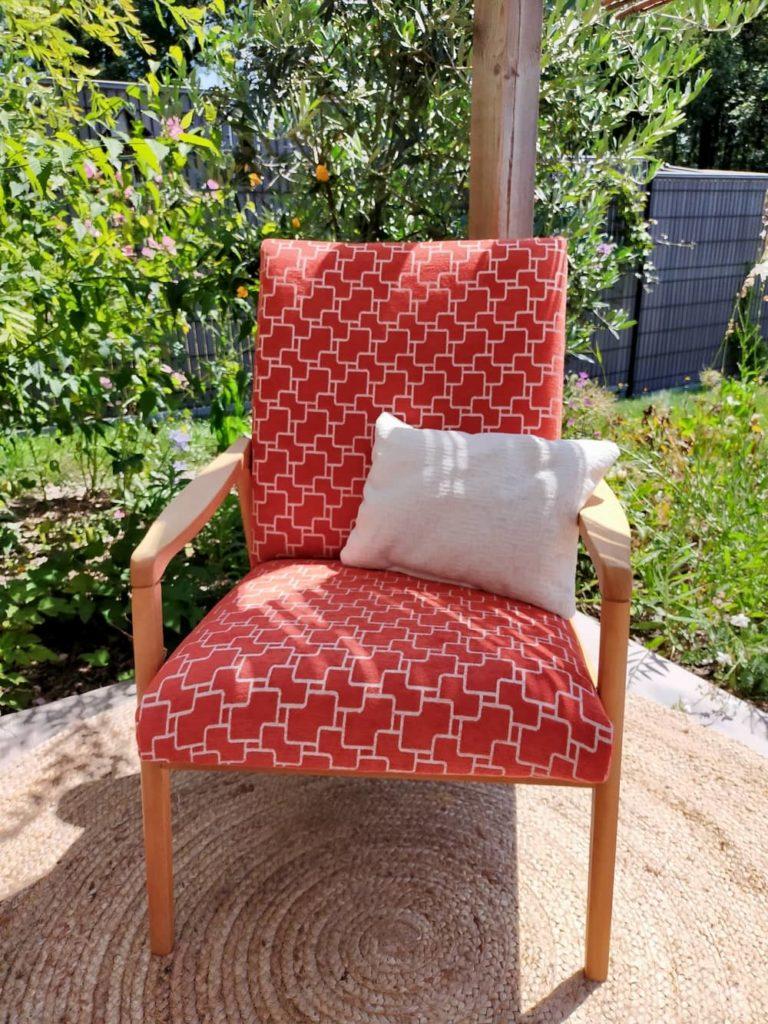 fauteuil scandinave vintage rénové viggo