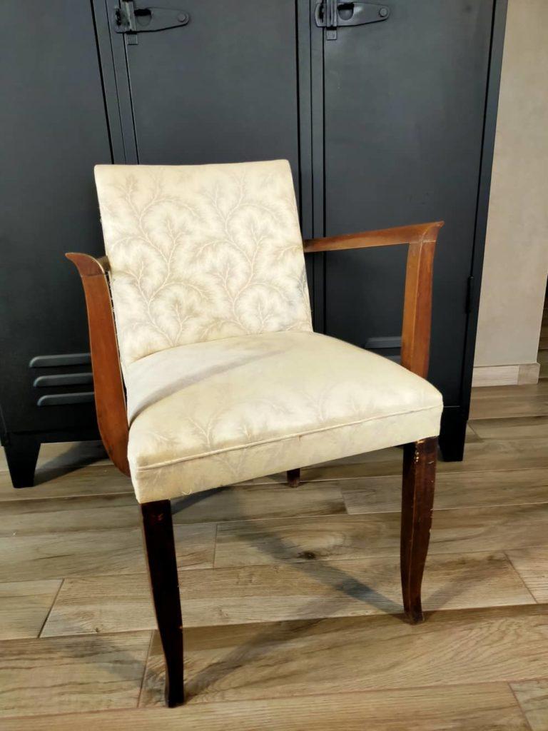 fauteuil bridge ancien à rénover