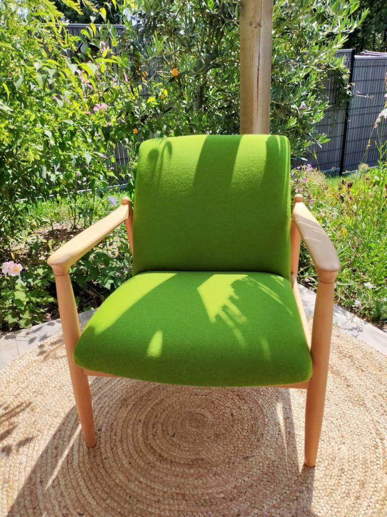 fauteuil scandinave vintage rénové Tobias