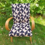 fauteuil scandinave vintage rénové - lorens