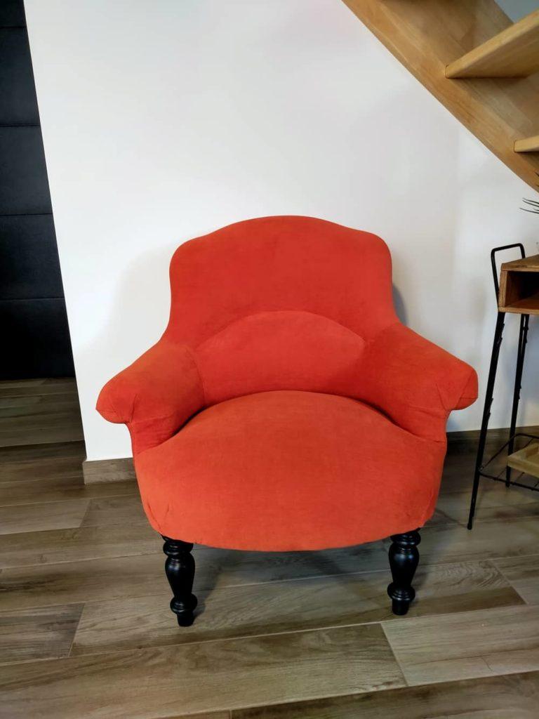 fauteuil crapaud rénové Angers