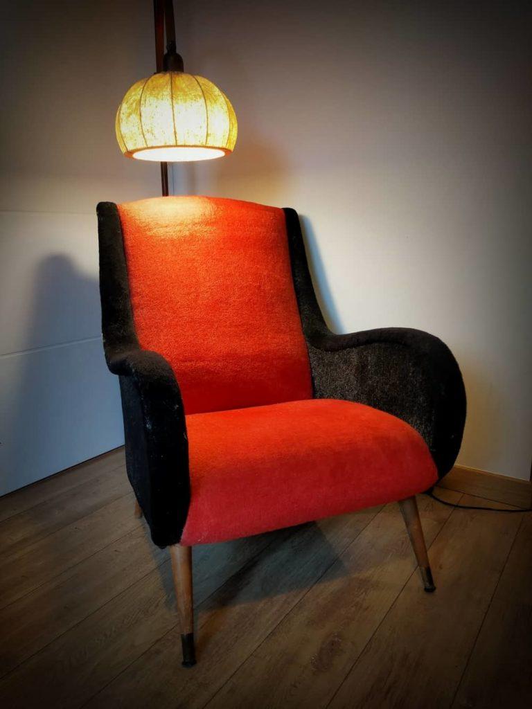 fauteuil scandinave 60 Frigg à restaurer Angers