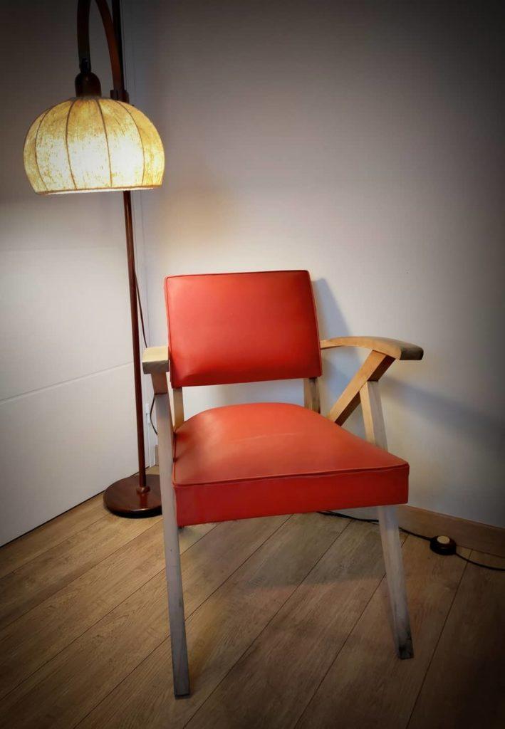 fauteuil scandinave Floki à restaurer Angers