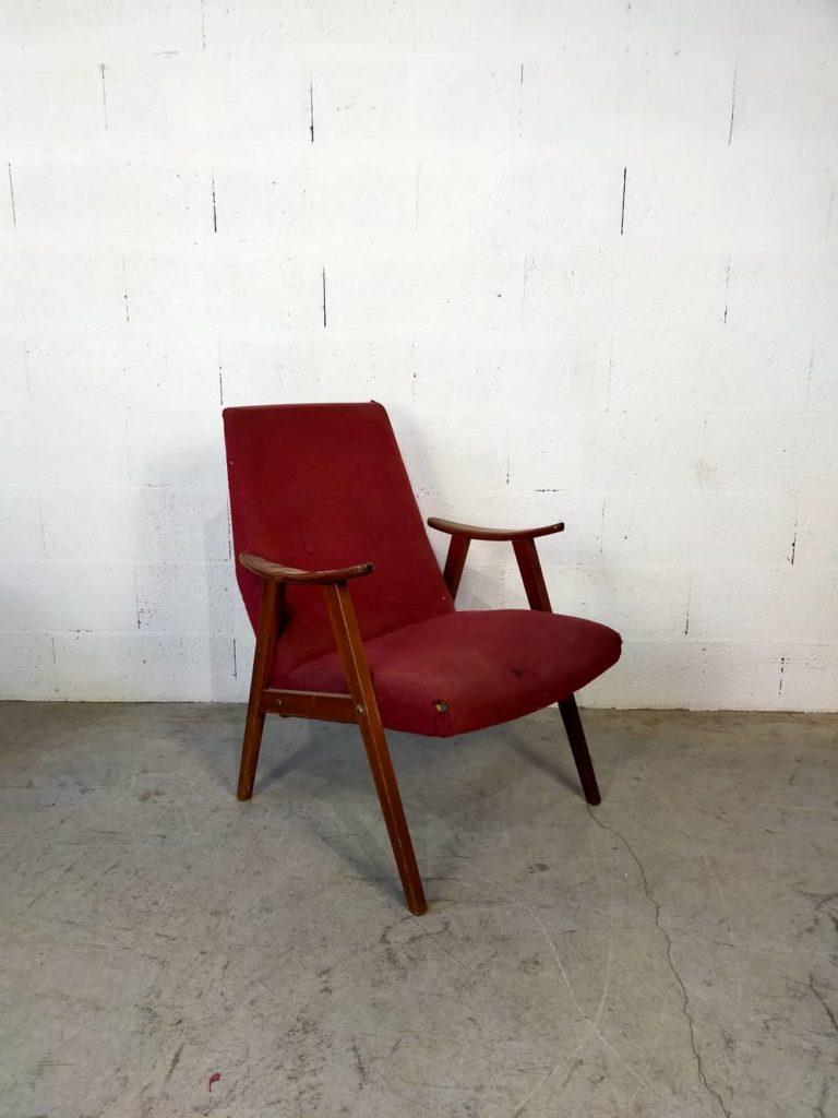 fauteuil scandinave vintage Almar à restaurer Angers