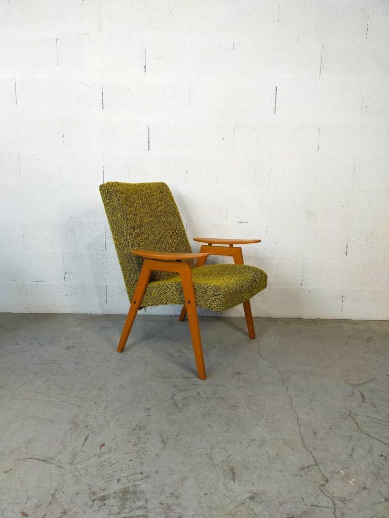 fauteuil scandinave vintage Ivar à restaurer Angers