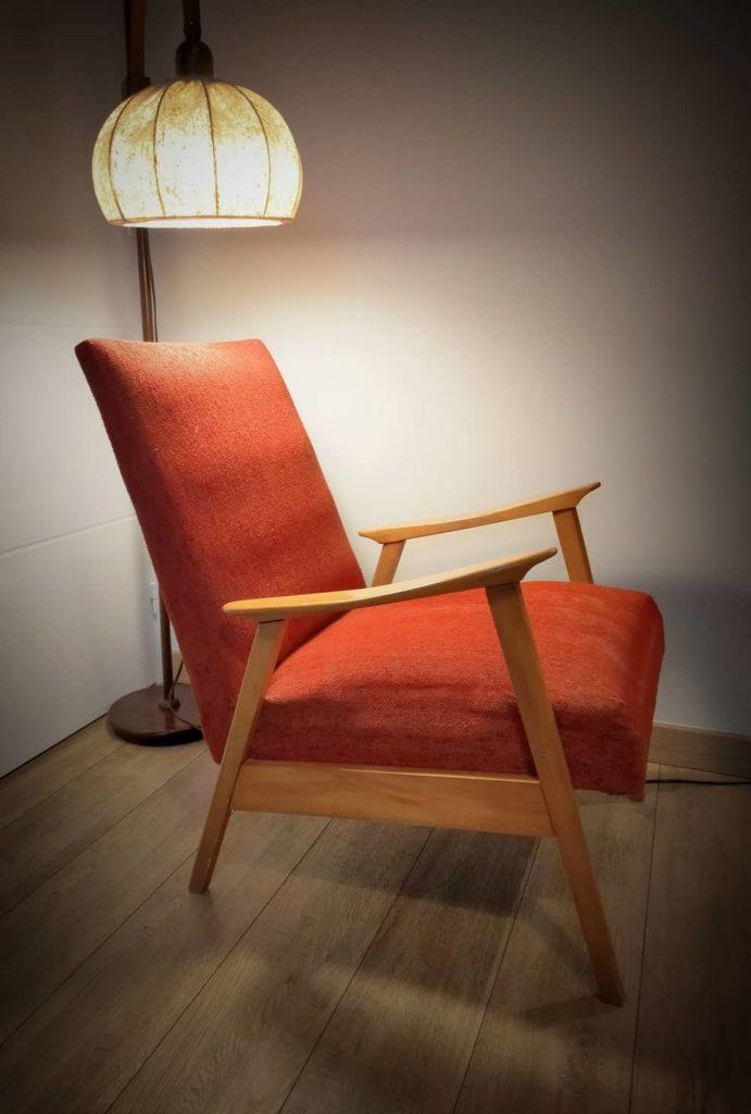 profil fauteuil scandinave Verner à restaurer Angers
